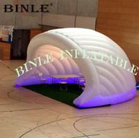 ingrosso ha condotto la sfera chiara-Tenda a mezza cupola gonfiabile bianca su misura con igloo gonfiabile di esplosione di evento della cupola della mezza sfera delle luci del LED per la mostra