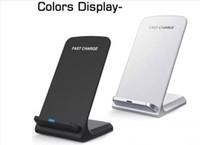 зарядное устройство qi для продажи оптовых-120шт 2 катушки Беспроводное зарядное устройство Быстрый Ци Беспроводная подставка для подставки под Apple iPhone X 8 8Plus Note 8 S8 S7 все смартфоны с поддержкой QI