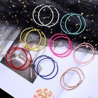 ingrosso grandi gioielli sexy-New Colorful Big Circle Orecchini a cerchio Sexy Piercing Orecchini a goccia Orecchini a cerchio esagerato Orecchini per gioielli da donna