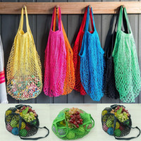 Environment Bag Shopper Tote Mesh Net Woven Cotton Bag Home Storage Bags Durable Portable Reusable String Shopping Grocery