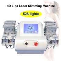 lipolyse laser de perte de poids achat en gros de-4D lipo laser machine à vendre 528 diodes laser corps lipolysis retrait lipolaser machine de perte de poids