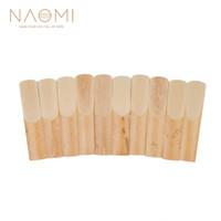 NAOMI 10pcs Box Saxophone Reeds For Alto Sax Alto BE Saxophone Reeds 3-1 2 Sax Reed Strength 3.5 Woodwind Parts & Accessories