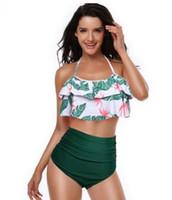qualität bikinis umsatz großhandel-2019 Strand der neuen Frauen, der reizvollen gesetzten Taillenbikinibadeanzug des Bikinis, preiswerte Verkaufs-Badebekleidung mit der flexiblen stilvollen Art und Weisebadebekleidung der hohen Qualität badet