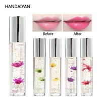 Wholesale bright lipstick colors resale online - HANDAIYAN colors High Quality Lipstick Beauty Bright Flower Crystal Jelly Lipstick Magic Temperature Change Color Lip Bal