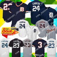 tiger-baseball-trikots großhandel-2019 Detroit Tigers Mens Jersey 23 Kirk Gibson 24 Miguel Cabrera 3 Alan Trammell Baseball Jersey heißer Verkauf