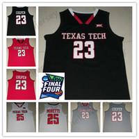 juvenil 23 camisetas rojas de baloncesto al por mayor-Texas Tech 23 Jarrett Culver 25 Davide Moretti Red Raiders Baloncesto cosido Jersey color blanco rojo gris Hombres Jersey juvenil Calidad superior
