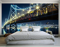 Wholesale bridge backdrops for sale - Group buy 3d photo wallpaper custom size mural golden gate bridge picture living room bed room sofa TV backdrop d wall murals wallpaper for walls d