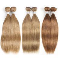 Wholesale honey blonde weave 22 inches resale online - Color Honey Blonde Brazilian Straight Hair Bundles Human Hair Weave Brazilian Virgin Hair Straight Extensions Color Color
