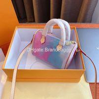 Wholesale flower soft powder online – custom 2020 Designer Mini Shoulder Bag Luxury Crossbody Bags Cowhide Purses Handbags Fashion Flower Colorful Powder Bag Women Letter handbag With B