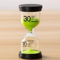 relógio mãos envio gratuito venda por atacado-Sandglass Ornaments Enfeites De Mesa De Areia Relógio De Presente Do Miúdo Temporizador De Cozinha 5/10/15/30 Mins Casa Temporizador De Areia Decorativa