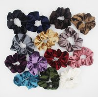 Wholesale head band wigs for sale - Hot Sale New Velvet Elastic Hair Scrunchie Scrunchy Hairbands Head Band Ponytail Holder middle size