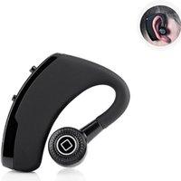 ingrosso csr usb-V9 Auricolari Bluetooth senza fili CSR 4.1 Auricolari stereo professionali con auricolari e microfono con controllo vocale con scatola del pacchetto DHL