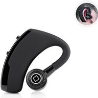 csr usb großhandel-V9 Wireless Bluetooth Kopfhörer CSR 4.1 Business Stereo Ohrhörer Headset mit Mikrofon Sprachsteuerung mit Paketbox DHL