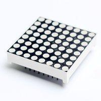 exibir cátodo comum venda por atacado-1pcs Mini 8 x 8 Red Display LED Common Cathode Dot Matrix Módulo para Arduino