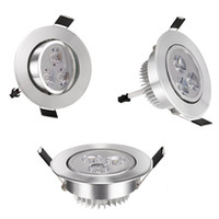 Hot 4PCS cool warm white 3W Downlight LED rotatable Recessed Ceiling Light Spotlight Lamp Driver 110V