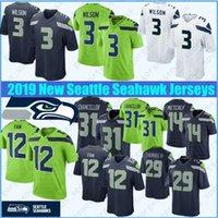 fan new jersey großhandel-Seattle Trikots 3 Russell Wilson Seahawk 14 DK Metcalf 12. Fan Jersey 54 Bobby Wagner 16 Tyler Lockett 49 Shaquem Griffin New Jersey top