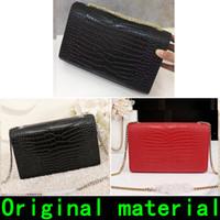 Wholesale quality nylon handbags resale online - Designer Handbags Saint Crocodile Pattern Original Leather material Gold chain Silver chain high quality Luxury handbags Shoulder Bags