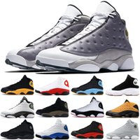 Wholesale carmelo sneakers for sale - Group buy Atmosphere Grey Mens XIII basketball shoes bred black cat Carmelo Anthony Olive top quality s sneakers mens designer shoes