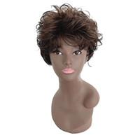 косплей парики женщин оптовых-Hair Care Wig Stands False Hair Short Wigs For Brown Women Sexy Wavy Curly Synthetic Wigs Fashionable Cosplay 28cm Mar19