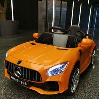 bebekler elektrikli arabalar toptan satış-Çocuk elektrikli araba uzaktan kumandalı dört tekerlekli araba oyuncak araba ile erkekler ve kadınlar oturabilir çocuk bebek salıncak Mercedes buggy