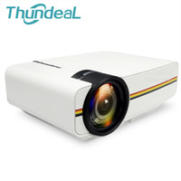 Wholesale mini projector for video games resale online - Thundeal Yg300 Upgrade Yg400 Mini Projector For Video Games Tv Beamer Project Home Theatre Movie Ac3 Hdmi Vga Av Sd Usb Yg T190620