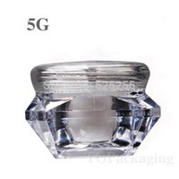 ingrosso bottiglia di chiodo a forma di-Wholesale-20PCS / LOT-5G vasetto crema, piccola forma di diamante Nail Art Canister, contenitore cosmetico in plastica vuota, MINI Sample Makeup Sub-imbottigliamento