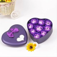 Wholesale soap box wedding favors for sale - Group buy New box Rose Soap Flower Simulation Flowers Wedding Gifts For Guests Party Favors Bridesmaid Gift Christmas Gift For Friend