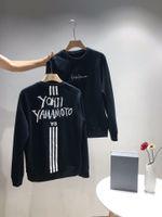 pull polaire à capuche achat en gros de-19fw marque de luxe Design Broderie Y-3 Femmes Hommes Casual Sweat Pulls Pull Streetwear En Plein Air Hoodies