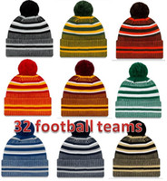 Wholesale sports beanie hats football teams for sale - Group buy Hat Factory directly New Arrival Sideline Beanies Hats American Football teams Sports winter side line knit caps Beanie Knitted Hats