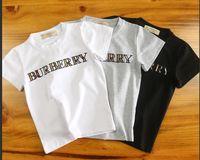 camiseta del tamaño del niño al por mayor-Marca CALIENTE Niños Pony Applique Blanco Rosa Algodón Jersey camiseta Diseñador Chica Arco Iris Cuello Redondo Manga Corta Camiseta Tamaño