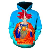 ingrosso cappuccio dragonball-2019 New Sun Wukong Hoodie Uomini 3D stampa Hoodie Dragonball lotta Son Wukong stampa 3D