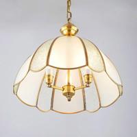 Wholesale adjustable led lighting pendants resale online - Copper Pendant Lights E27 Lamp For European Pendant Lamps Adjustable Chandelier Ceiling lamp