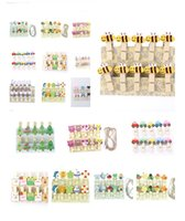 Wholesale 1 Christmas Snowman Duck Heart Owl Mini Natural Wooden Clips For Photo Clips Clothespin Craft Decoration Pegs