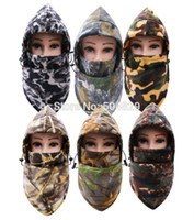 Wholesale motor mask for sale - Thermal Fleece Balaclava camouflage Ski Bike Wind Stopper Face Mask camo riding cycling motor hats