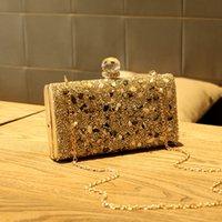 ingrosso scatole frizione diamanti-Diamonds Bag Box sera della borsa della frizione di modo delle donne Mini Bags catena della spalla femminile elegante della festa nuziale di frizioni pouchQZC055