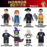 Wholesale toys creepy resale online - Single Sale Witch Lady Death Massacre Creepy Doll Dexter Morgan Pinhead Jack Action Dolls Kids Gift Toys WM6012