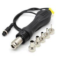 Wholesale bga nozzle hot air station resale online - 8 holes Hot Air Desoldering Heat Gun Handle FOR D BGA Rework Solder Station SMT SMD Repair Nozzles