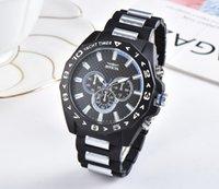 relógio de estilo único venda por atacado-2019relogio masculino 41mm militar dos esportes do estilo dos homens relógio relógio de quartzo dos homens de silicone único novo dos homens da moda relógio de quartzo
