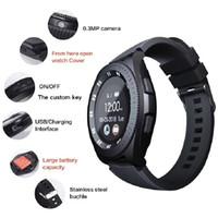 sim kontrolü toptan satış-Akıllı akıllı hatırlatıcı bilgileri Pedometre destek SIM kart almak fotoğraf Dokunmatik kontrol HD çağrıyı itmek izleme bileklik tarzı sağlığını watchs