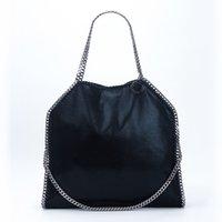 diamantkupplungen taschen großhandel-Stella Mccartney Frauen Tote Bag Big Size-Veloursleder drei Slings Diamond Cut Ketten Einkaufen mit Clutch