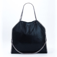 Wholesale cut bags for sale - Group buy Stella Mccartney Women Tote Bag Big Size Faux Suede Three Slings Diamond Cut Chains for Shopping with Clutch