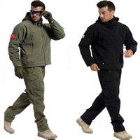 армейский ветрозащитный костюм оптовых-Tactical наборы куртка или штаны акульей TAD Мужчины водонепроницаемый ветрозащитный Army Military Охота костюмы Открытый Climbing Туризм Одежда T190919