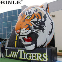 Wholesale billboards advertising resale online - Customized large inflatable tiger head inflatable animal billboard balloon for company advertising supply customize design China factory