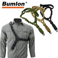Wholesale rifle kits for sale - Group buy Adjustable Tactical Gun Sling Belt Single Point D Heavy Duty Mount Bungee Military Rifle Sling Kit Airsoft Strap HT30