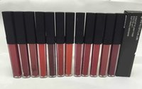 Wholesale lipstick matte sale stock resale online - 60pcs Hot sale NA lipgloss lipstick matte liquid colors lipstick marger than life lip gloss NET OZ in stock sale