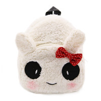 Wholesale kids toys candy for sale - Group buy Cute Panda bowknot baby school bag cartoon mini plush backpack for kindergarten boys girls kids schoolbag candy bag toys gift