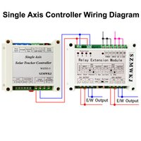 Wholesale single relay module for sale - Group buy Single Axis Controller W Relay Extension Module For Solar Panel Tracker System