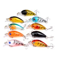 Wholesale minnow crankbaits resale online - 4 cm g Mini Transparent Plastic Fishing Lures Bait Minnow Crankbaits D Eye Artificial Lure Bait Colors ZZA273