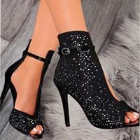 женская обувь оптовых-2019 новый женский Кристалл сандалии лодыжки ремни пряжки прозрачная крышка каблук насосы дамы сандалии партия обуви размер 35-43