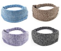 Wholesale yoga works for sale - Group buy hot Unisex Sports Stretch Elastic Yoga Sweatband Sports Hair bands Running Working Outdoor Gym sweatband Hair bands accessaries